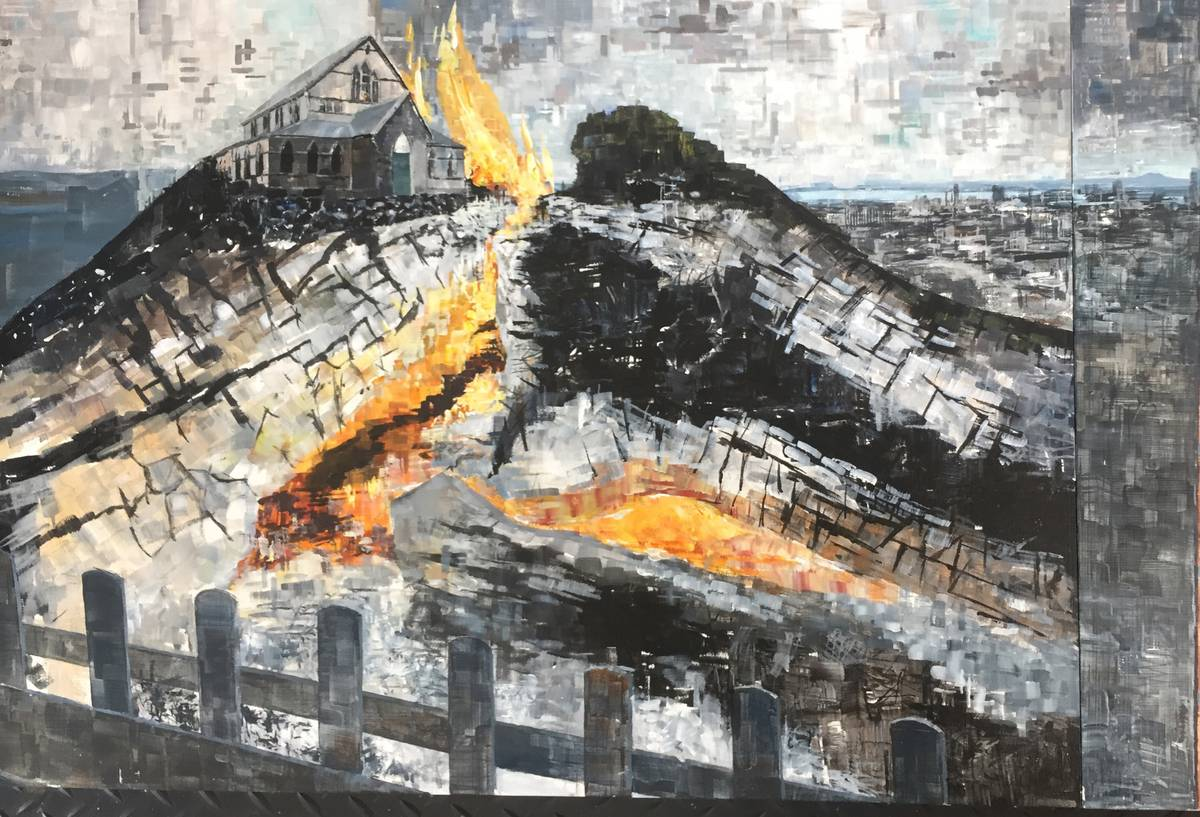 Artist's spooky premonition of St James Church hall fire