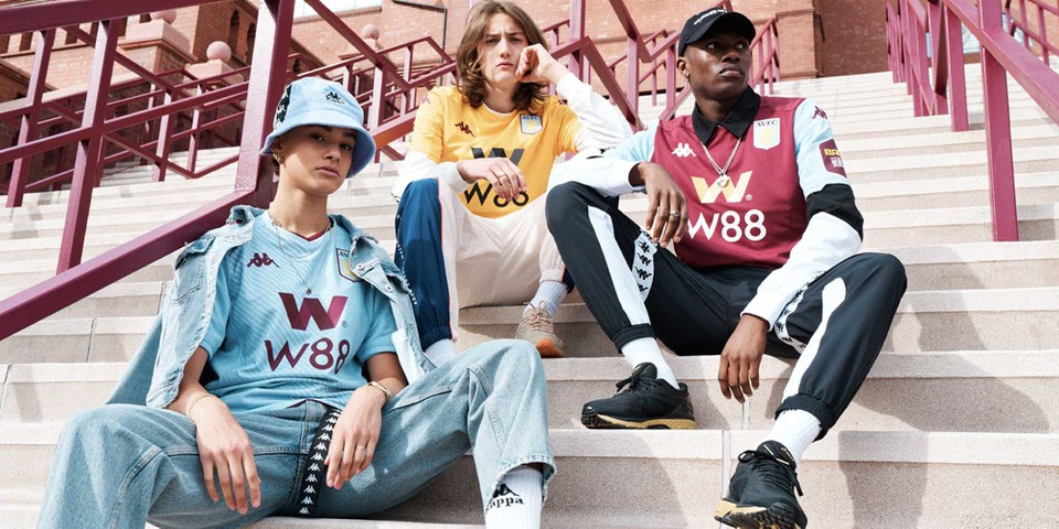 Aston Villa's 2019/20 Kits Are Pitch to Street Ready in New Kappa Lookbook