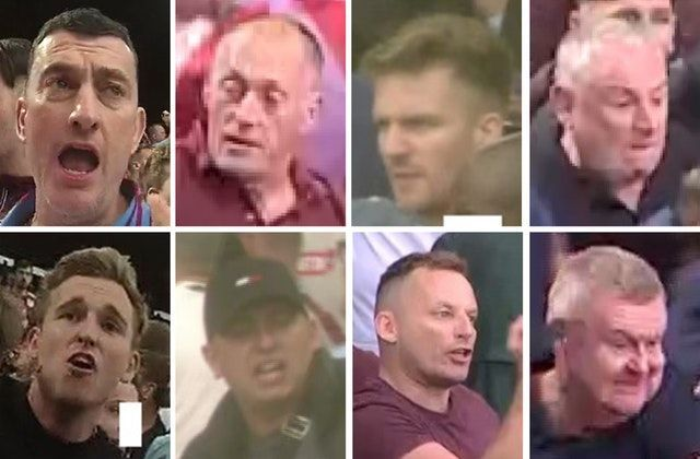 Police hunt eight Aston Villa fans after stewards are attacked when goal is disallowed