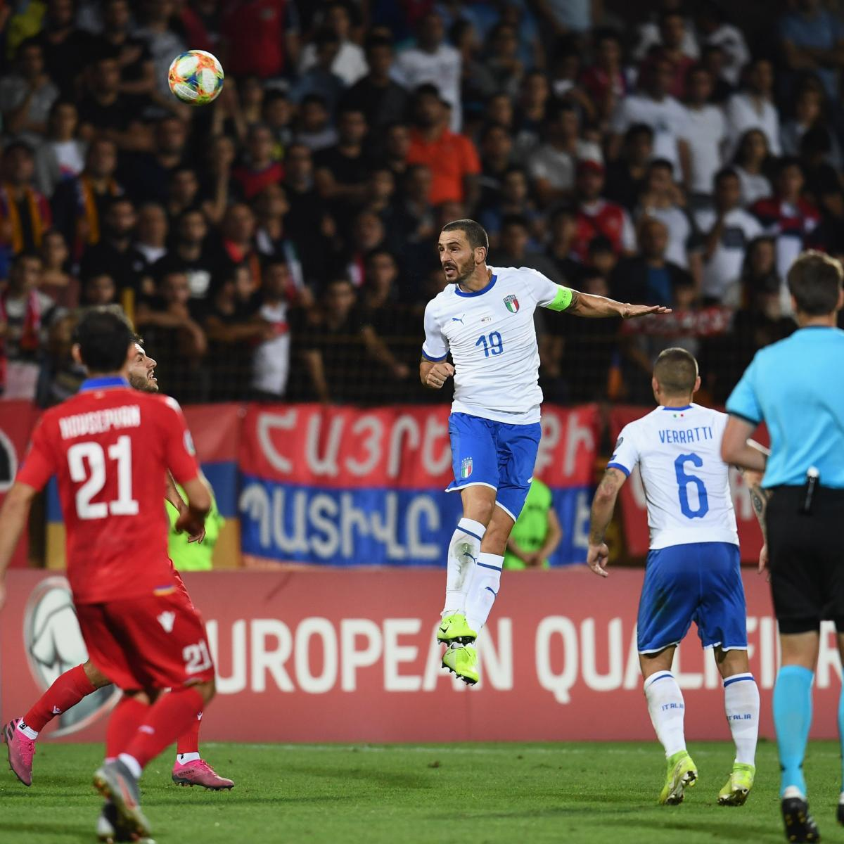 Italy vs. Armenia: Euro 2020 Qualifying Odds, Live Stream, TV Info